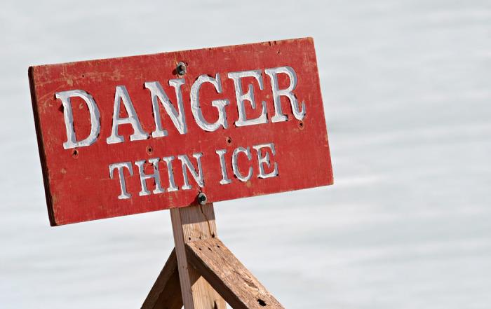 danger thin ice
